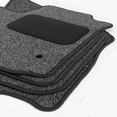 Preisvergleich Produktbild Fußmatten für Micra seit 2010 K13 Autoteppich anthrazit
