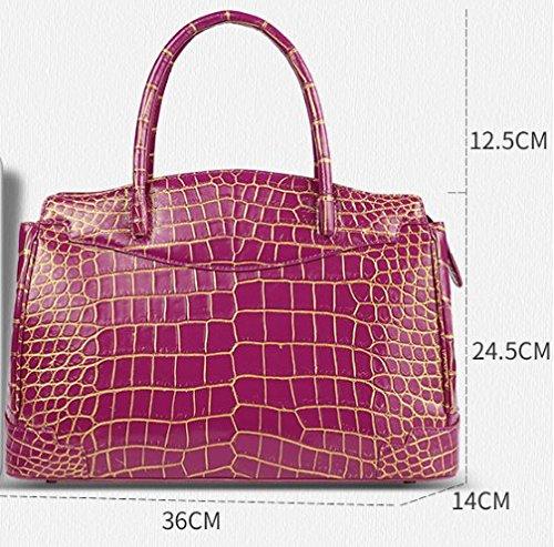 lpkone-Motif Crocodile bag lady bag violet-rouge Purple