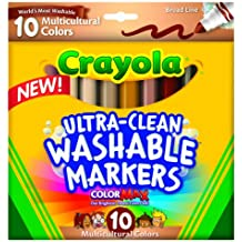 Crayola Ultra-Clean Color Max Broad Line Washable Markers-Multicultural 10/Pkg