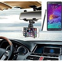 Supporto Smartphone specchietto retrovisore per Samsung Galaxy Note 4, nero | Specchio Holder staffa auto - K-S-Trade (TM) - Guida All'acquisto Holder