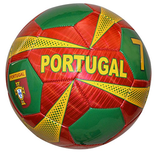 Vizari Portugal Soccer Ball  Burgundy  Size 5