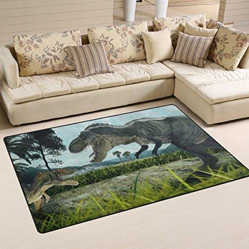 JSTEL INGBAGS Super weicher, moderner 3D-Renderingteppich für Wohnzimmer, Schlafzimmer, Teppich für Kinder, zum Spielen und Dekorieren, Bodenteppich und Teppiche, 79 x 51 cm, Multi, 60 x 39 inch - Elfenbein Blumen-bereich Teppich