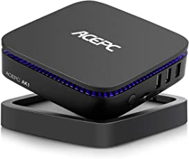 "ACEPC AK1, Mini PC Intel Celeron Prozessor J3455 Windows 10 Home (64 Bit) Desktop Computer [4GB / 32GB / Unterstützung 2.5"" SSD/mSATA SSD/Gigabit Ethernet/Dua-Band WiFi / 4K /Dual HDMI]"