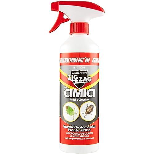 Zig Zag ,Insetticida, Cimici, Insetticida Microincapsulato a Lento Rilascio, Inodore, Specifico per Cimici, Anti Cimici ad Azione Rapida e Residuale, 500 ml