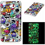 Coque LG X Power, BONROY® LG X Power Housse Luminous Effect Noctilucent Green Glow in the Dark Ultra Mince Souple Gel TPU Bumper Poussiere Resistance Anti-Scratch Coque Housse Pour LG X Power - Déchets