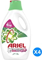 Ariel Automatic Power Gel Laundry Detergent Touch of Freshness Downy - Pack of 4 Bottles (4 x 3L)