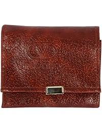 Poland Brown Men's Tri-Fold Wallet (3fold-lechi-tan)