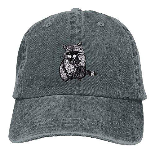 Zhgrong Caps Black Leaf Raccoon Unisex Classic Adjustable Baseball Cap Dad Hat mesh Cap (Günstige Echte Waffen)