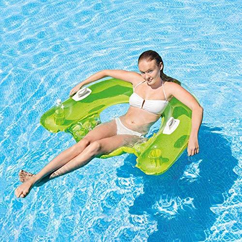 CIIY Hohe Qualität Sommer Wasser Strand Strand Pool Sitzen Schwimmende Reihe Aufblasbare Erwachsene Schwimmen Schwebebett Sofa Stuhl Wasser Aufblasbares Bett Spielzeug 152 * 99 cm (Farbe : Zufällig) - 99 Sofa
