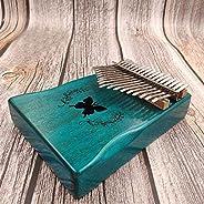 Olands Kalimba Mbira Thumb Finger Piano, Kalimba Thumb Piano Portable 17 Keys Solid Wood Musical Instrument Gi