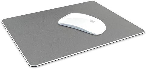 Tizum Aluminium Mousepad - Anti-Skid Intensive Gaming Mouse Pad for MacBook, Laptop & Desktop (L) - Grey