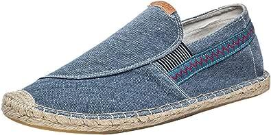 Scarpe da Barca Slip on Deck Scarpe Vintage Flat Durable Casual Antiscivolo Flat Canvas Shoes Uomo or Donna