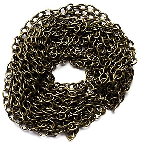 Cousin Corporation of America BM25991 Oxidized Brass Metal B Chain, 100