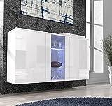 Letti e Mobili – Credenza Salve bianco con LED