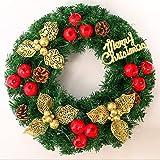 Fyyanm Decoraciones Navideñas 40cm Granada Roja Guirnalda Navideña Puerta Colgante Guirnalda Centro Comercial Hotel Ventana de Navidad Disposición