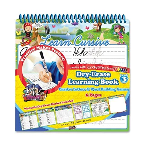 Board Dudes Wire Bound Dry Erase Activity Book - Cursive and Math/Time (11210UA-4) by The Board Dudes