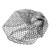 Gazechimp Schwarz Vogelkäfig Gesichtsschleier Haarschmuck