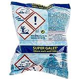 Galet multifonction 500g. Traitement de base longue durée pour piscines. Le Super Galet multifonction est un traitement complet pour la piscine: désinfectant, anti-algues, floculant, azurant.