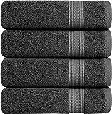 Utopia Towels - Set di Asciugamani Mani 700 GSM (4 Pezzi, 41x 71 cm) - 100% Cotone - Perfezionare per Hotel & Spa - Massima morbidezza e assorbenza da parte di (Grigio)