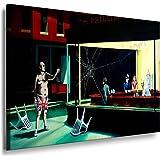 Nighthawks by Banksy Street Art Graffiti Leinwand Bild von artfactory24 fertig auf Keilrahmen - Kunstdrucke, Leinwandbilder, Wandbilder, Poster, Gemälde, Pop Art Deko Kunst Bilder