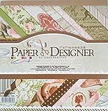 40 Blatt Scrapbooking Papier Gemustertes Karton Bastelpapier mit Vintage Design für DIY Handwerk Foto Hintergrund Deko 7x7 Zoll (015)