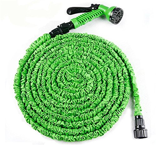 SHISHANG 75FT retractable car hose car cleaning products anti-high temperature imitation latex 3 times times telescopic high pressure water gun garden washing car green Blue, green