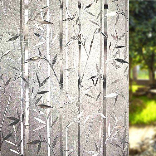 617%2B4rJ9KxL - LEMON CLOUD 3D Film Esmerilado Ventana Ventana Adhesivo Estatico se Aferran Bambus Patron para Oficina Casa Decoracion y Proteccion de la Privacidad (60cmX200cm Bambu)