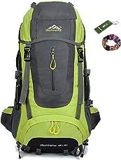 Hwjianfeng Ticktock Ong 70L Travel Rucksack Large Wandern Bergsteigen Ruck Sack Wasser Resistang Gepäcktasche für Outdoor Reisen Klettern Camping