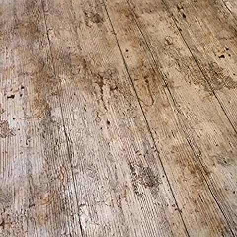 QPC DIRECT Wooden Plank Rustic Wood Effect Print PVC Oilcloth Table Cover Vinyl Tablecloth 2 Metres