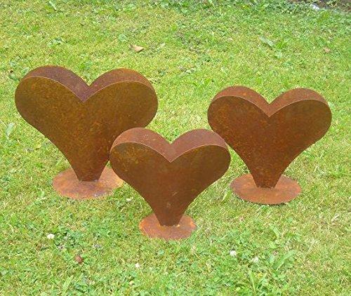 floristikvergleich.de Herz 29 x 23 cm aus Metall, bepflanzbar in Edelrost Optik, Deko für Garten und Wohnung Valentinstag