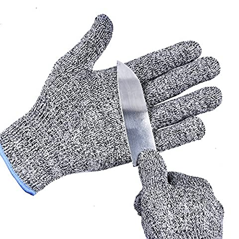 TTLIFE Cut Resistant Gloves - High Performance Level 5 Protection, Food Grade, Safty Gloves for Hand protection and yard-work, Kitchen Glove for Cutting and slicing (One Size, Level 5 Protection) (Large)