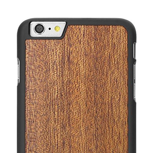 Cover-Up WoodBack bois noir mat pour iPhone 6 / 6s Plus - Frêne Noir - Acajou