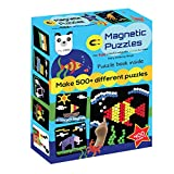 Play Panda Magnetic Puzzles Circles - Includes 400 Magnets, 200 Puzzles, Magnetic Board