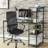 Bürostuhl Drehstuhl Chefsessel Computertischstuhl Schreibtischstuhl Dunkelgrau Ergonomisch Höhenverstellbar Netzrücken