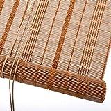Tende a rullo Tapparelle di bambù Naturale avvolgibili per casa da tè e Ufficio, Schermo Oscurante per Finestra Oscurante al 50%, Larghezza 50-140 cm, Facile da Riparare