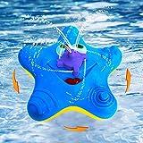 Kleinkinder Badewannenspielzeug, Baby Seestern Badespray Wasser Spielzeug, Elektronische Float Drehen Mit Brunnen Spielzeug Badewanne Dusche Pool Badezimmer Spielzeug für Infant Kid Party (Blau)