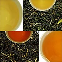 10x10gm (10x0.35oz) Samples of Darjeeling Black Tea | Sampler of Organic Loose Leaf of Premium Quality | First Flush | Second Flush | Autumn Flush | Darjeeling Tea Boutique