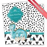 Mutter-Kind-Pass Hülle 3-teilig Creative Royal Schutzhülle schöne Geschenkidee (MuKi-Pass Österreich ohne Personalisierung, Dino)
