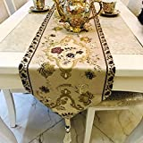 Longzhi europei e americani Tavolino Runner lusso europeo Tavolo da giardino decorativo di striscia di stoffa tovaglia Centrino A 32*270cm