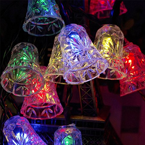 IVSO Catene luminose per esterni, 15ft 20 LEDs, IP65 impermeabile 4.8m Stringa luci da esterno solari, stringa di luci per Giardini, patio, giardino, case, festa di Natale e albero, e tutti gli altri