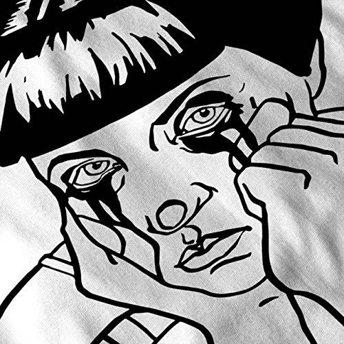 Traurig Mädchen Cool Seltsam Komisch Damen Schwarz S-2XL T-shirt | Wellcoda Weiß