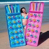 2 x Transat/lit/tapis en plastique de 18poches, pour prendre bain de soleil