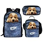 HUGS IDEA Fashion Pet Dog Cat Print Lunch Bags