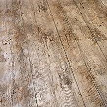 QPC Direct–Mantel de vinilo PVC de hule para mesa de impresión de efecto de madera de madera rústico 2metros