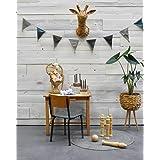 Barnwoodweb Wandhout Montreal Dekkend Wit RAL 9010 0,8m2 Wandbekleding oud hout met 3D effect