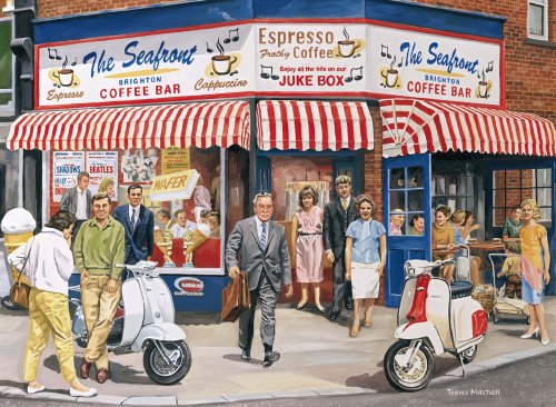 Imagen principal de Ravensburger The Coffee Bar Brighton 2 X 500pc Jigsaw Puzzle