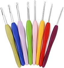 Electomania® Crochet Hook Needle Set 8 pcs in 1 (Color Delivered Randomly)