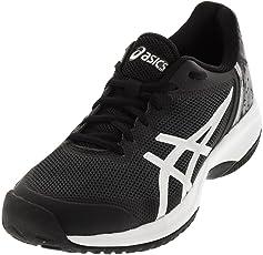 ASICS Men's Gel-Court Speed Tennis Shoe Black/Flash Yellow 6 D(M) US