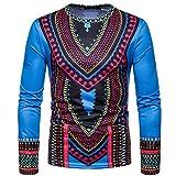 Plot Herren Herbst Beiläufig Afrikanisch Indisch Ethnisch Drucken O Ausschnitt Lange Ärmel Pullover Tops Bluse