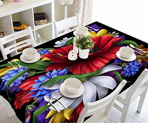 Staub, Feuchtigkeit - aus hellem Staub Nachttischen, 3d-Tischdecken pad Zubehör für die Küche, 90 cm * 150 cm. (Rosa Quadratische Bettwäsche Tischdecke)